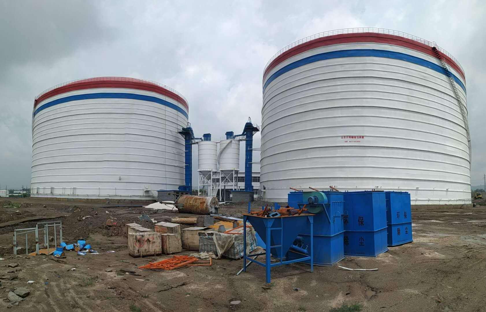 10万吨大型粉煤灰储存库钢板仓厂家直供
