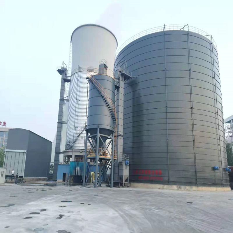 山东正阳-连云港集装箱装卸车5000吨卷板仓及4万吨粉煤灰钢板仓储存整套设备施工案例