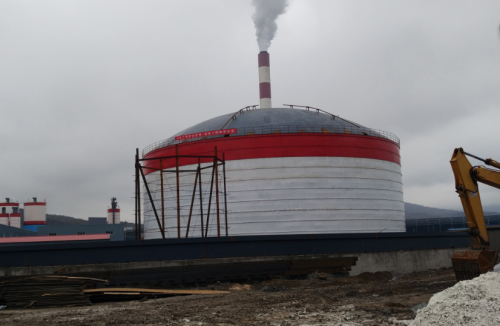 山东大型钢板库   大型粉煤灰储存罐