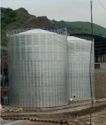 2座直径16米的卷板仓施工案例