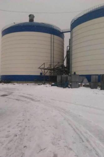 辽宁2万吨粉煤灰钢板仓    钢板库