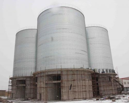 4座5000吨水泥储存罐