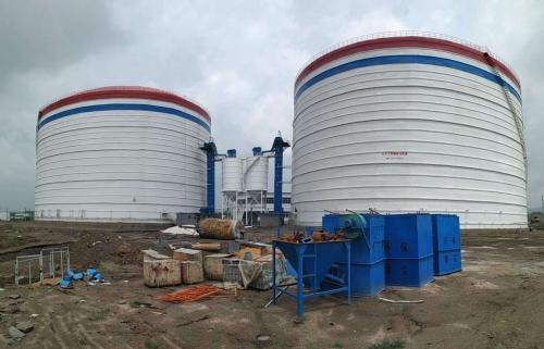 甘肃10万吨大型粉煤灰储存库钢板仓厂家直供