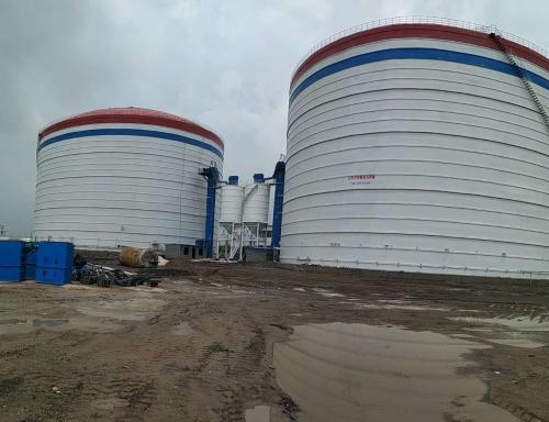 山西龙电10万吨大型粉煤灰储存库