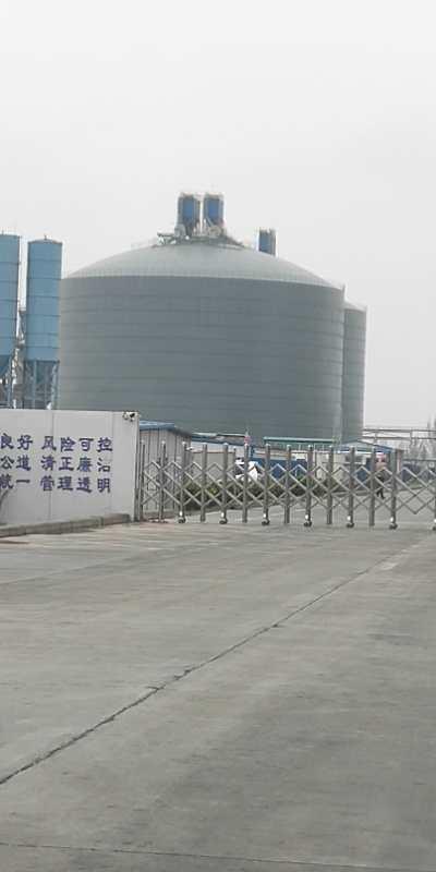 河南2座1万吨粉煤灰钢板仓