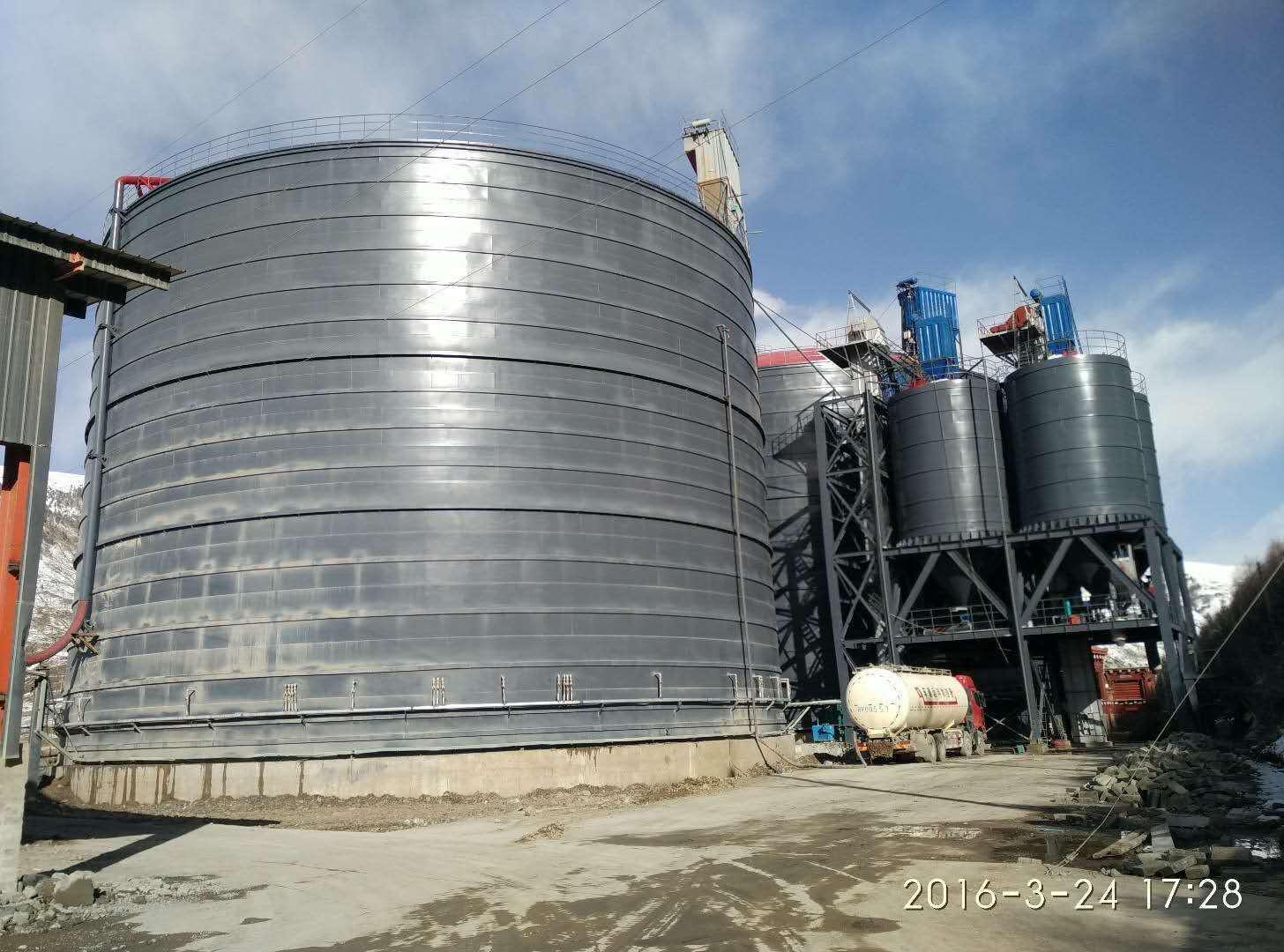 莱芜3万吨粉煤灰钢板仓